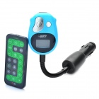 "1,0 ""LCD Auto MP3-Player FM Transmitter w / TF / SD / USB - Schwarz + Blau (DC 12-24V / 1 x CE1220)"