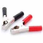 Car 100A Battery Terminal Alligator Crocodile Clamp Clip (Pair)