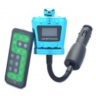 "1,0 ""LCD Auto MP3-Player FM Transmitter w / TF / SD / USB - Blau + Schwarz"