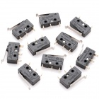 DIY 0.5A 125V / 250V Micro Switch - Black (10 Piece Pack)