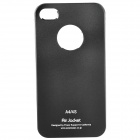 Ultra-Thin Protective Aluminum Alloy Back Case for iPhone 4 / 4S - Black