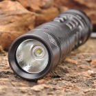 Sky Ray 3-Mode 230LM White LED Flashlight w/ Strap - Grey (1 x 14500)