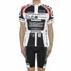 2011 BMC Team Short Sleeves Bicycle Cycling Riding Suit Jersey + Shorts Set (Size XL / 175~185cm)