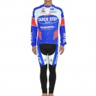 2011 Quickstep Team Long Sleeves Bicycle Cycling Suit Jersey + Pants Set (Size-XL / 175~185cm)