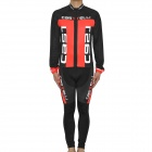 2011 Team Castelli Long Sleeves Bicycle Cycling Riding Suit Jersey + Pants Set (Size-XL / 175~185cm)