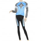 2011 Team Long Sleeves Bicycle Cycling Riding Suit Jersey + Pants Set for Women (Size-XXL)