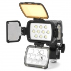 BL-900 18W 900LM White / Warm White 10-LED Light Video Lamp (1 x 4400mAh Battery)