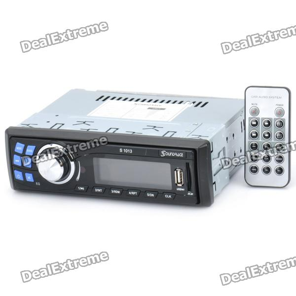 "2.8"" LCD Car Audio System MP3 Player with FM / SD / USB - Black + Silver (DC 12V)"