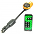 "1.0"" LCD Car MP3 Player FM Transmitter with USB / TF / SD - Orange (1 x CR1220)"