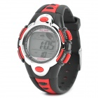 Sports Diving Wrist Watch w/ Colorful Backlit / Week / Stopwatch / Alarm Clock - Red (1 x CR2025)