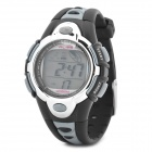 Sports Diving Wrist Watch w/ Colorful Backlit / Week / Stopwatch / Alarm Clock - Silver (1 x CR2025)