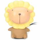 Cute Cartoon Lion Style USB Rechargeable Music Speaker - Yellow + Brown