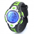 Sports Diving Wrist Watch w/ Colorful Backlit / Week / Stopwatch / Alarm Clock - Green (1 x CR2025)