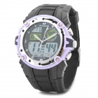 Sports Diving Wrist Watch w/ EL Backlit / Week / Stopwatch / Alarm Clock - Purple (1 x CR2025)