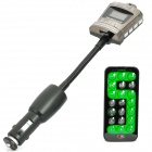 "Crown Style 1.0"" LCD Car MP3 Player FM Transmitter w/ USB / SD / TF - Silver + Grey (DC 12~24V)"