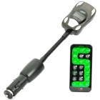 "Car Design 1.0"" LCD Car MP3 Player FM Transmitter with USB / SD / TF - Black (12~24V)"