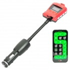 "Crown Style 1.0"" LCD Car MP3 Player with FM Transmitter with USB / SD / TF - Red (12~24V)"