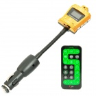 "Crown Style 1.0"" LCD Car MP3 Player FM Transmitter with USB / SD / TF - Golden (12~24V)"