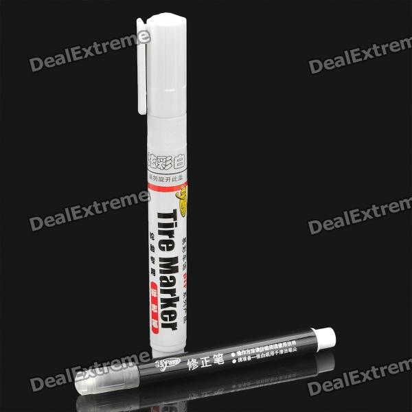 Tire Marker Paint Pen for Auto Car Motorcycle - White