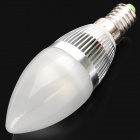 E14 280-300LM 5000-6000K 3-LED Candle Style White Light Bulb (3x1W/85-265V)