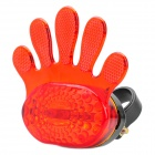 Hand Style 3-Mode 5-LED Red Light Bike Safety Tail Lamp (2 x AAA)