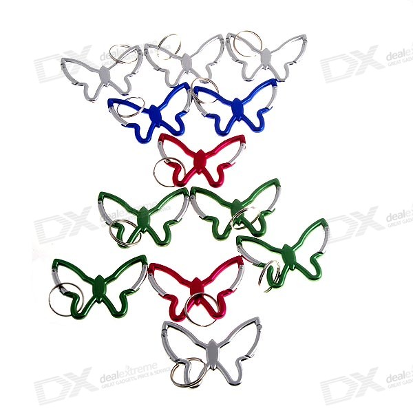 Butterfly Doubled Sided Metal Hiking Clips (12-Pack)