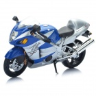 1:12 Suzuki GSX1300R Model Motorcycle for Display / Collection - Blue + Silver