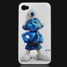 The Smurfs Pattern Protective Plastic material Back Case for iPhone 4 - Gutsy Smurf