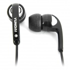 Stylish In-Ear Earphone w/ Microphone for iPhone & Computer - Black (3.5mm Jack / 102cm-Cable)