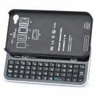 Bluetooth V3.0 Slide-Out 50-Key-Tastatur für Iphone 4 / 4S - Schwarz