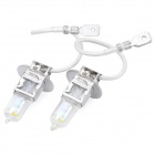 H3 100W 2200LM 3000K Yellow Light Halogen Lamp Bulbs for Car (DC 12V / Pair)