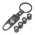 Kia Logo Car Tire Valve Caps - Black (4-Pack)