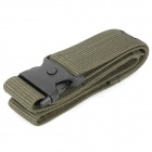 Designer's Outdoor Nylon Waistband Waist Belt with Dual Buckle - Army Green
