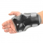 Skating Skiing Hand Wrist Guard Protectors - Black + Grey (Size-M / Pair)