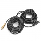 Waterproof USB 2.0 CMOS 4-LED Illuminated Snake Camera Endoscope / Borescope (15M-Length)