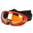 Dual Layer Anti-Fog PC Lens Skiing Glasses / Goggles - Red