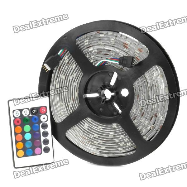 36W Waterproof Decoration 5050 150-SMD RGB Light Strip w/ Remote Controller