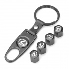 Lexus Logo Car Tire Valve Caps - Black (4-Pack)