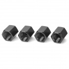 Suzuki Logo Car Tire Valve Caps - Black (4-Pack)