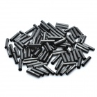 Genuine CAPSTONE Aluminum Alloy Cable Housing End Caps Ferrules - Black (100-Piece)