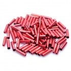 Genuine CAPSTONE Aluminum Alloy Cable Housing End Caps Ferrules - Red (100-Piece)