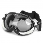 Dual Layer Anti-Fog PC Lens Skiing Glasses / Goggles - Black