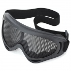 Tactical Metal Mesh Protective Goggles for War Game - Black