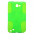 Protective Silicone + PP Net Dual Protection Case for Samsung Galaxy Note i9220 - Green