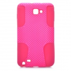 Protective Silicone + PP Net Dual Protection Case for Samsung Galaxy Note i9220 - Pink