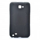 Protective Silicone + PP Net Dual Protection Case for Samsung Galaxy Note i9220 - Black