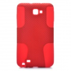 Protective Silicone + PP Net Dual Protection Case for Samsung Galaxy Note i9220 - Red