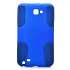 Protective Silicone + PP Net Dual Protection Case for Samsung Galaxy Note i9220 - Blue