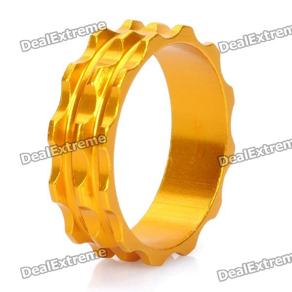 Aluminum Alloy Bicycle CNC Front Fork Washer - Golden (28.6mm)