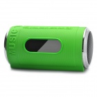 "0.8"" LED Can Style MP3 Player Speaker w/ FM / USB / TF Slot / LED Flashlight - Green"